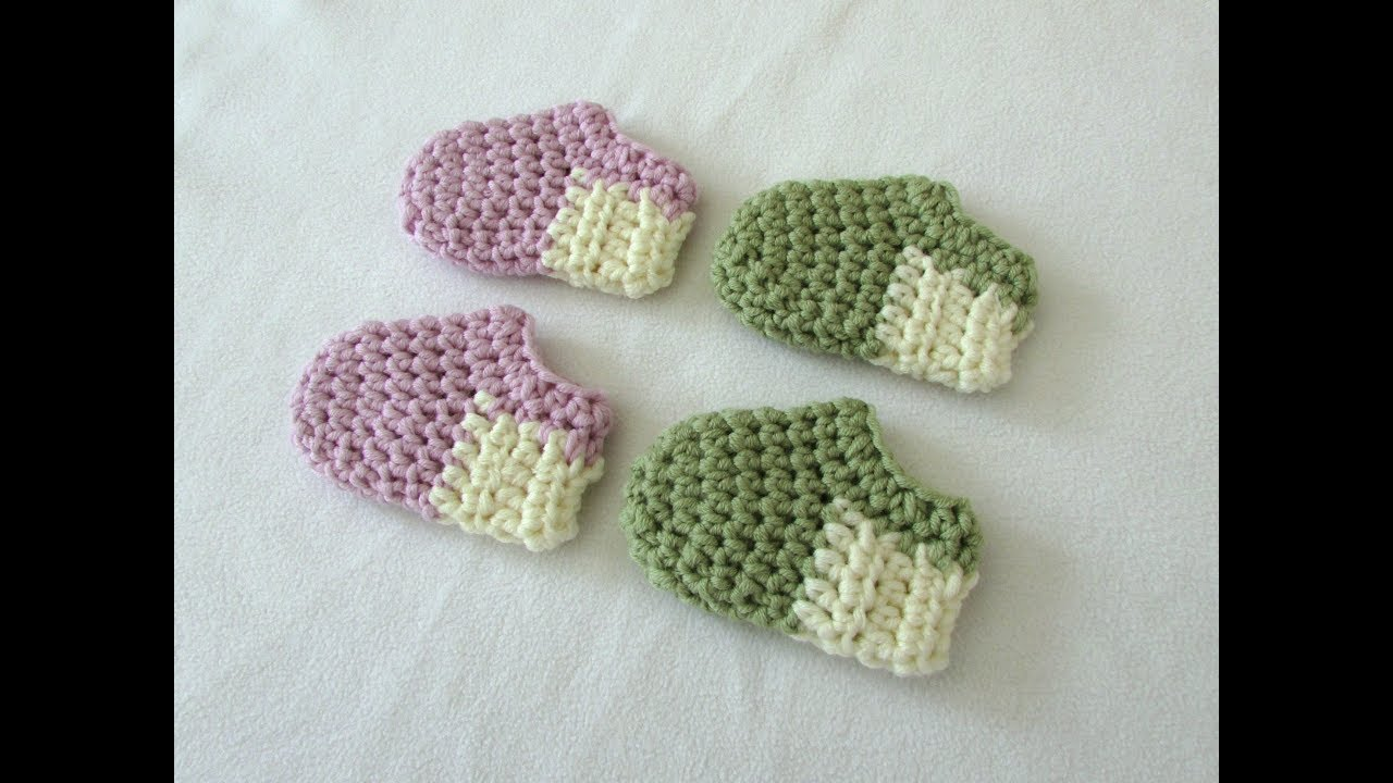 How To Crochet Basic Baby Shoes Booties For Beginners