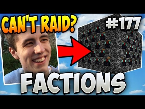Minecraft FACTIONS Let's Play #177 - RUSHER SAID HE CAN'T RAID THIS!!