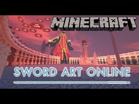 Minecraft Map:Sword art online 마인크래프트 맵:소드아트온라인 - YouTube