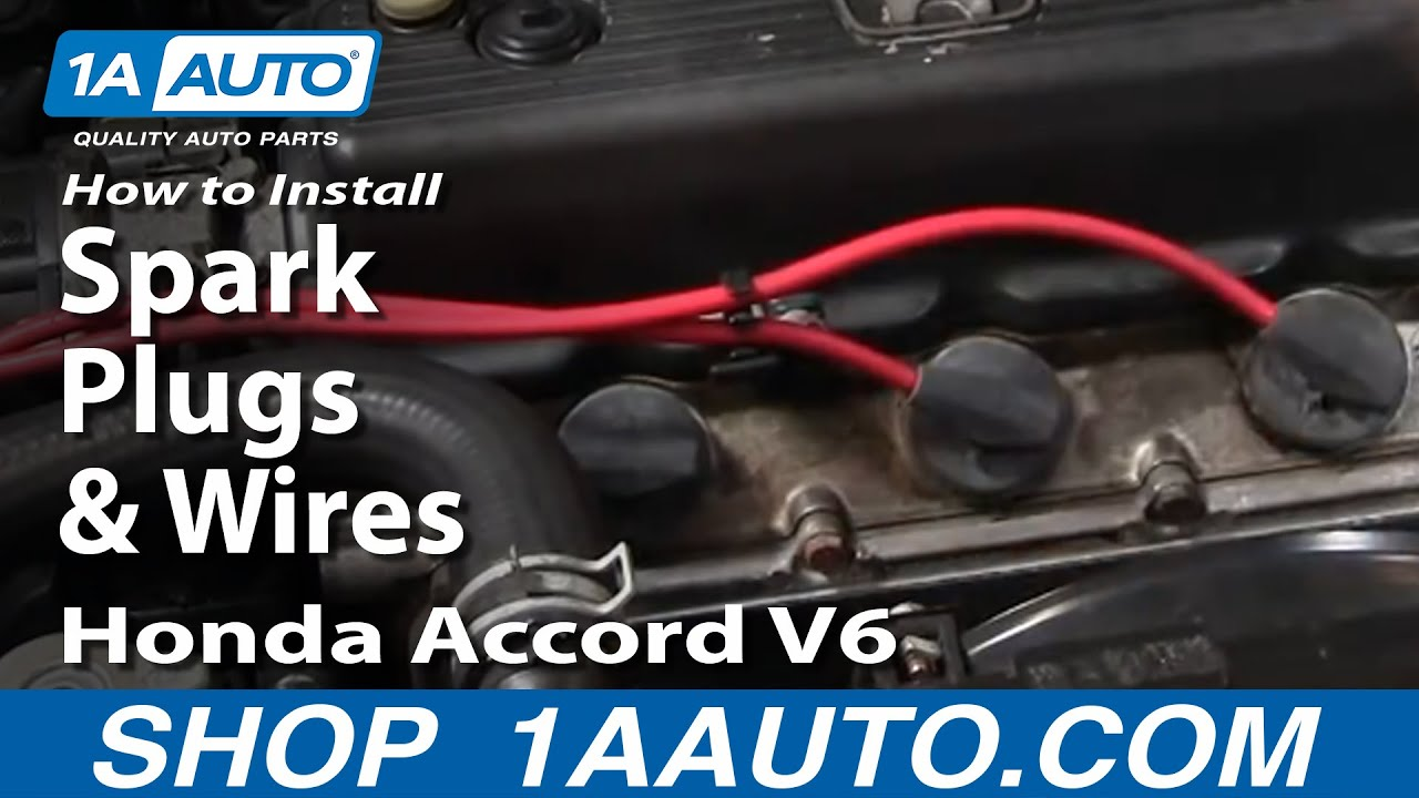 How To Install Replace Spark Plugs And Wires Honda Accord V6 95 97 1985 Wiring Diagram 1aautocom