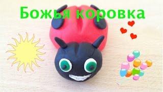 Развивающие видео: лепим Божью коровку из пластилина Play doh. Игрушки для детей(В этом мастер-классе вы увидите, как легко делается яркая красная божья коровка из пластилина. Лепка как..., 2015-07-14T09:05:13.000Z)