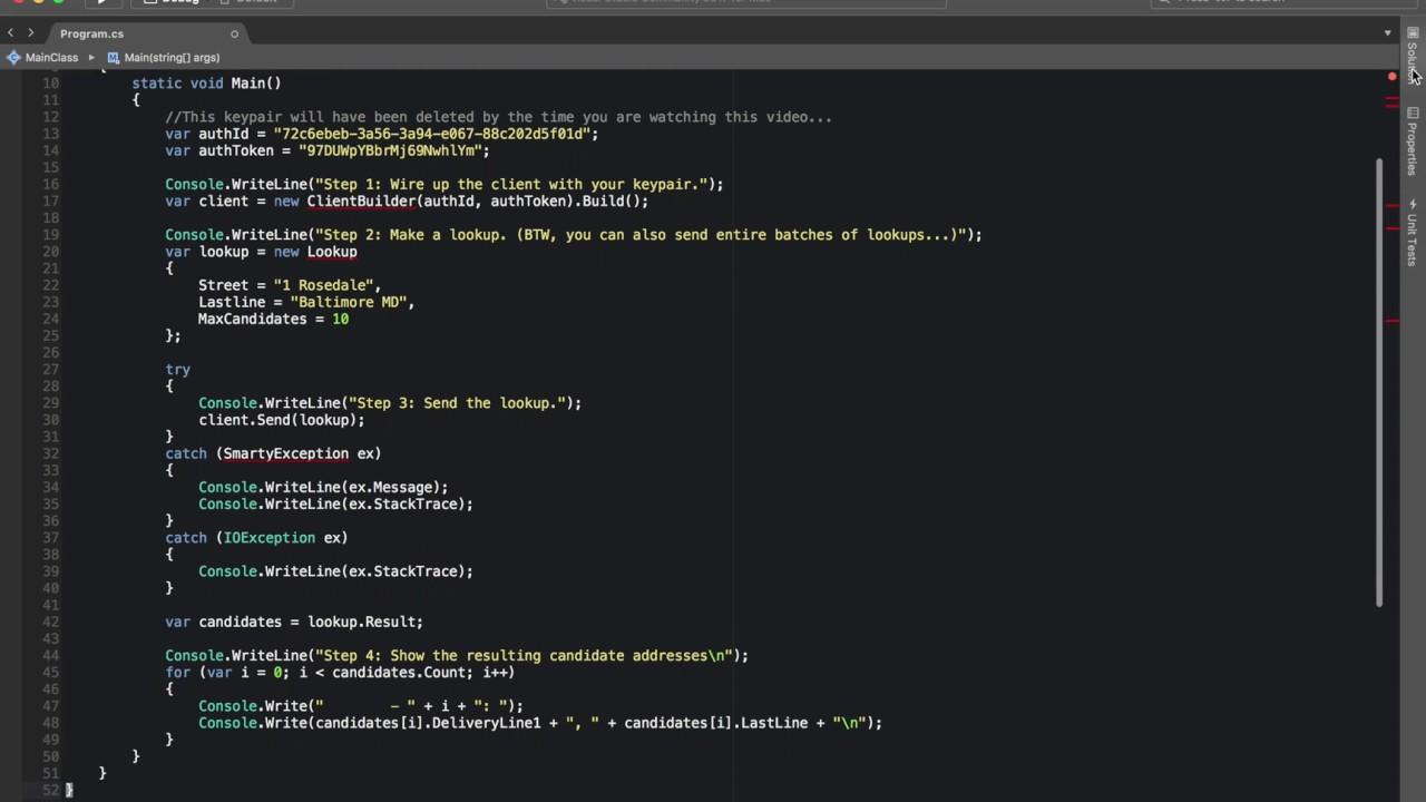 NET SDK Documentation SmartyStreets - Us zip code lookup web service