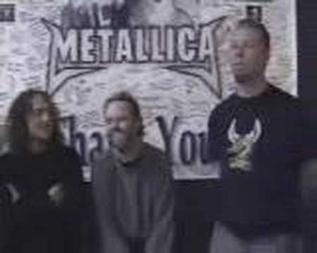 Metallica Message To All The Fans(live in the studio)
