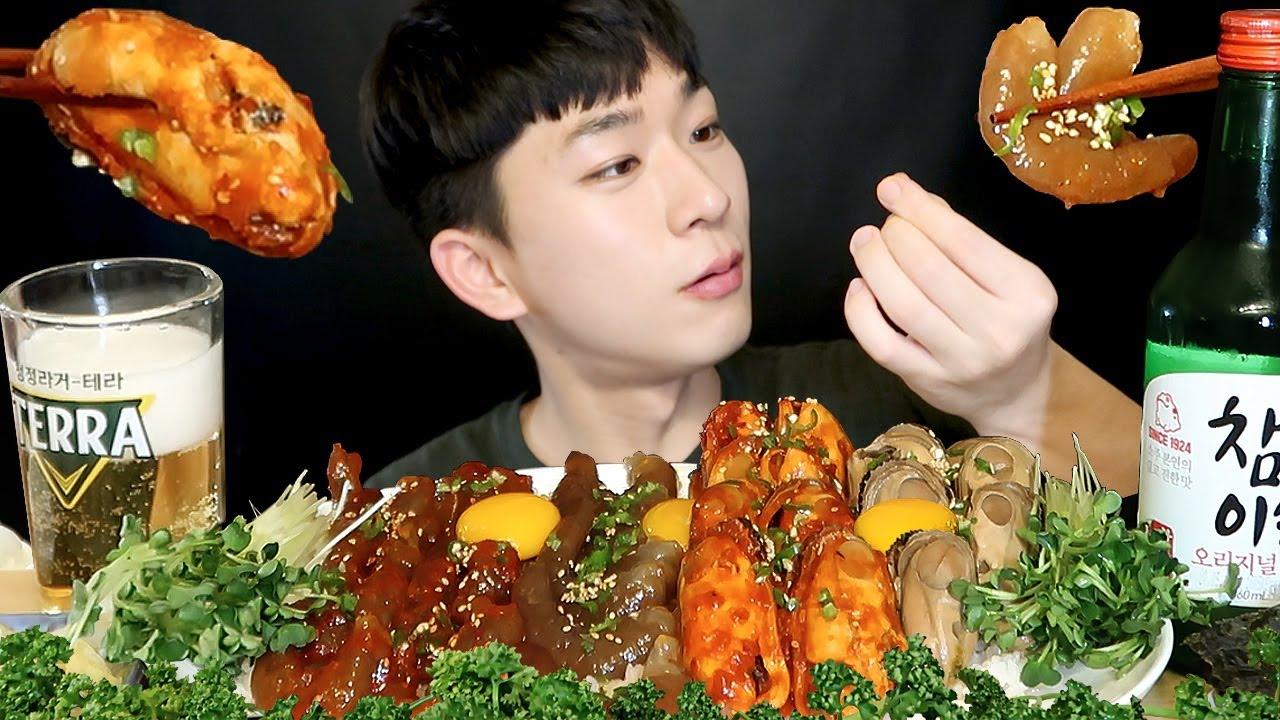 새우장&홍합장 먹다 진주 나왔따! Found Pearl! Marinated Shrimp&Mussel ムール貝 蚌 Cơm мидия Mukbang Eating Show 먹방