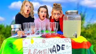 OUR FIRST LEMONADE STAND (WE EARN REAL MONEY!)