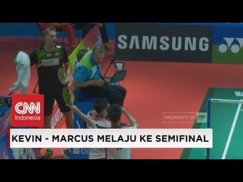 Melaju Ke Semifinal, Kevin/Marcus 'Murka' pada Wasit Indonesia Open