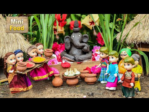 Miniature Ganesh Chaturthi Modak Recipe |Mini Vinayaka Chavithi Pooja | Tiny Cooking | Mini Cooking