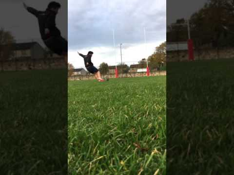 13 year old rugby kicking practice