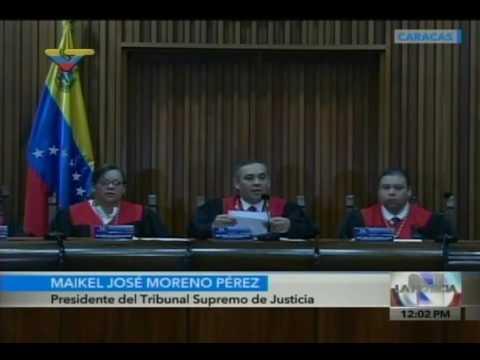 Comunicado leído por el Presidente del TSJ, Maikel Moreno, sobre nuevas sentencias aclaratorias