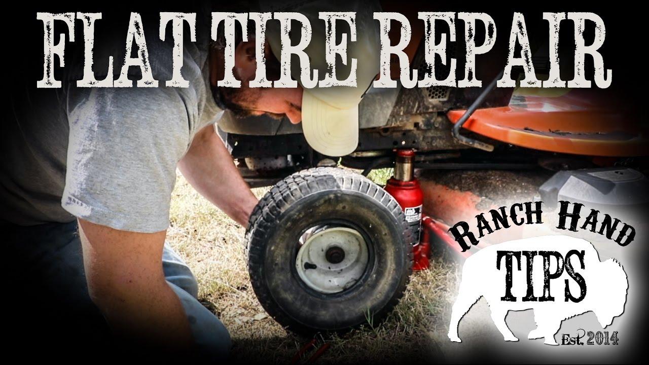 Husqvarna Riding Mower Flat Tire Repair Ranch Hand Tips