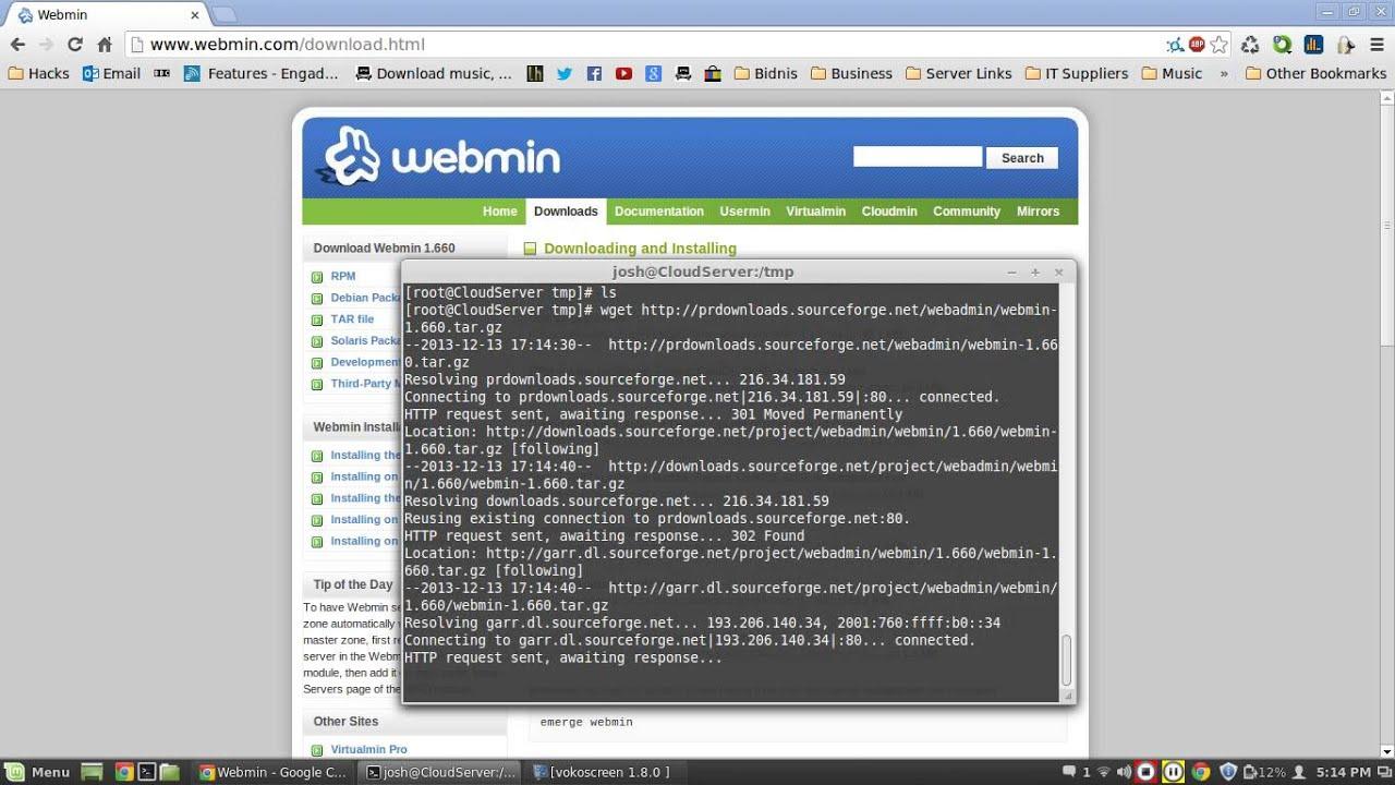 Linux Server: Setup & Install Webmin