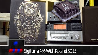 John Romero's Sigil in DOS on a 486 with a Roland SC-55