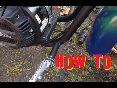 How to put CBR1000rr foot pegs on a Baja mini