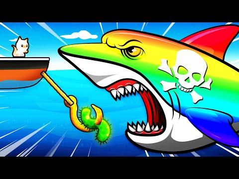 Catching The $1,000,000,000 RAINBOW SHARK (Cat Goes Fishing)