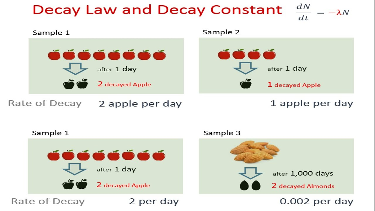 Radioactive Decay Law And Decay Constant