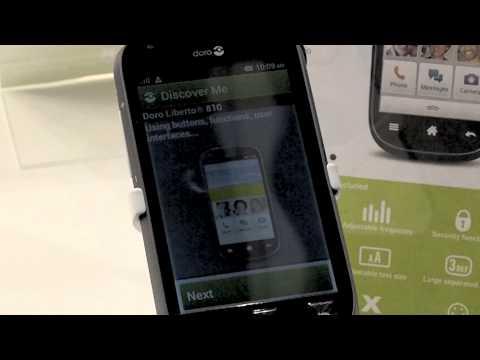 Doro Liberto 810 super easy smartphone (MWC 2014)