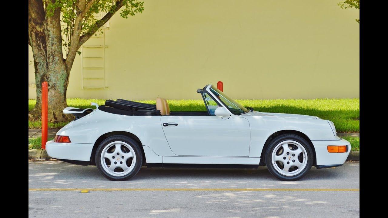 1994 porsche 911 carrera 2 964 g50 cabriolet 43k for sale call 305 988 3092 youtube. Black Bedroom Furniture Sets. Home Design Ideas