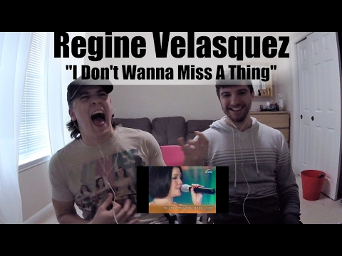 Regine Velasquez I Don't Wanna Miss A Thing REACTION!