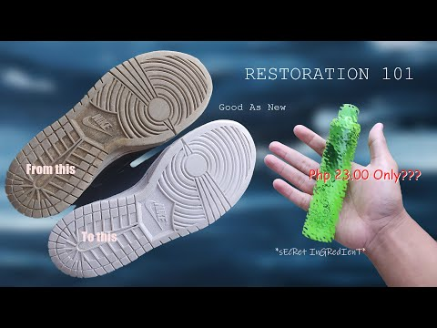 Restoration: How To Whiten/Unyellow Soles For Just 23 Pesos