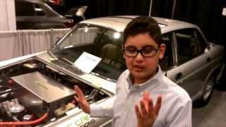 ELECTRIC JAGUAR XJ (worlds first @ International Auto Show)