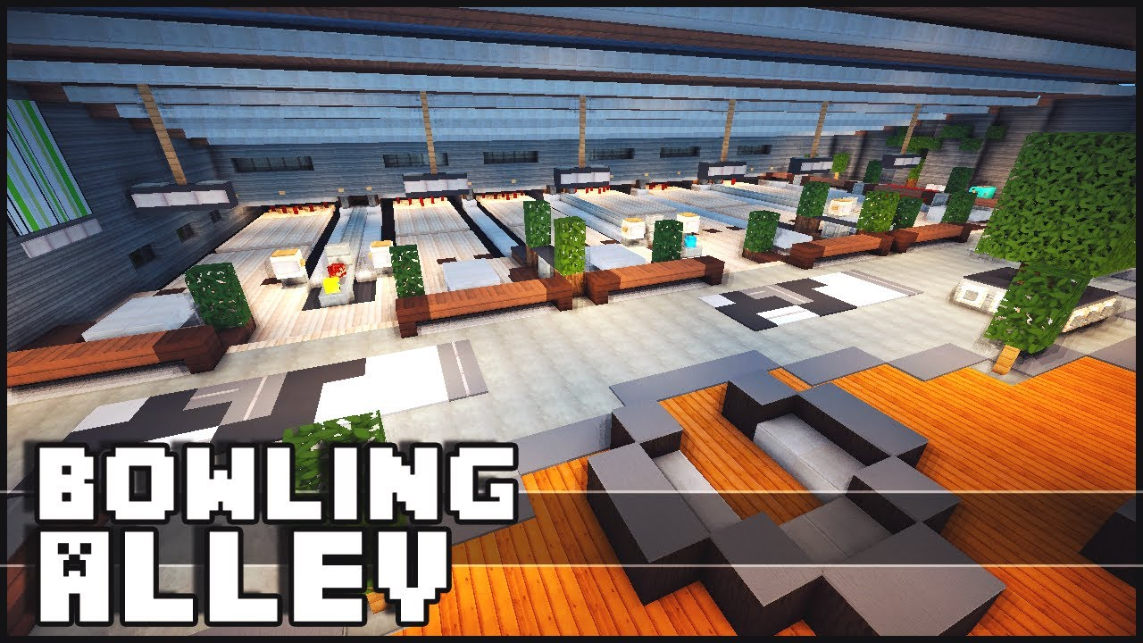 Minecraft Bowling Alley YouTube - Bowling map para minecraft 1 10