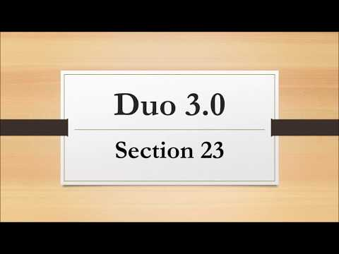 Duo3.0 Section 23
