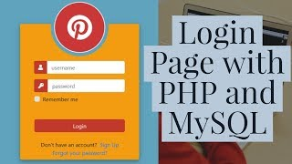 How To Create a Login Form using PHP and MYSQL Database