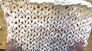 HOW TO HAND KNIT CHUNKY CHENILLE BLANKET