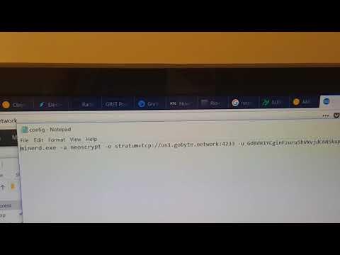 How To Gpu/Cpu Mine Gobyte Neoscrypt
