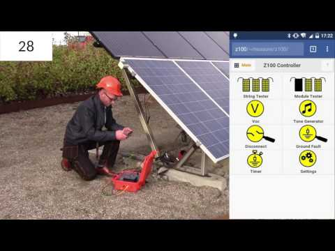 A Solar Panel Tester that can find a solar panel disconnect in 30 sec
