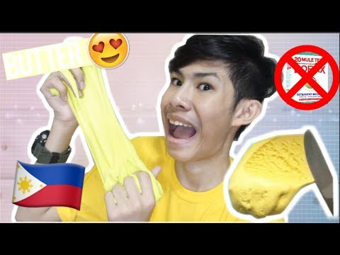 DIY BUTTER SLIME IN THE PHILIPPINES!! NO BORAX! (3 FILIPINO INGREDIENTS) | RenielReyesTV