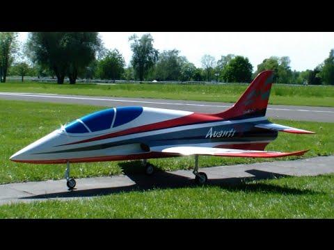 Giant R/C Avanti turbine Model Jet very nice flown 26.Oldtimertreffen 2015