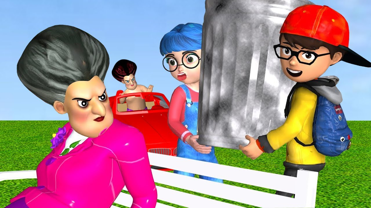 Scary Teacher 3D - Nick and Tani Troll Miss T and Child | Scary Teacher 3D Hile Funny Animation