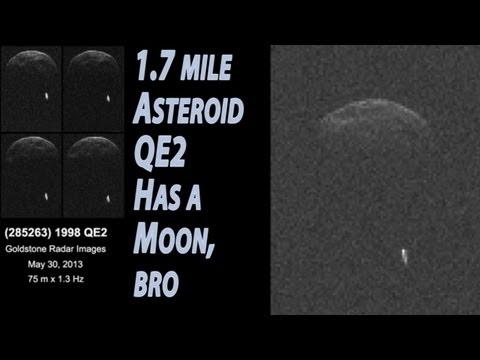 1.7 Mile PHA Asteroid 1998 QE2 has a Moon!