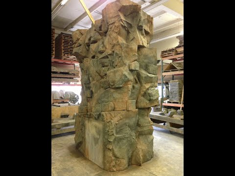 How to make a rock column with interlocking rock panel casti