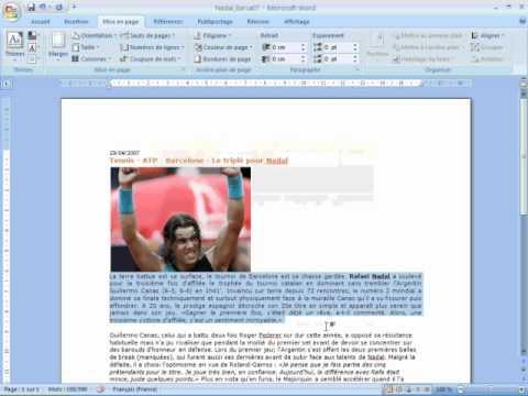 Justifier du texte dans Word video formation almoudaris
