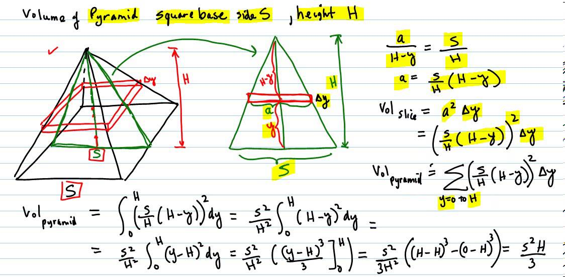 Find the volume of a square base pyramid using calculus youtube find the volume of a square base pyramid using calculus ccuart Choice Image
