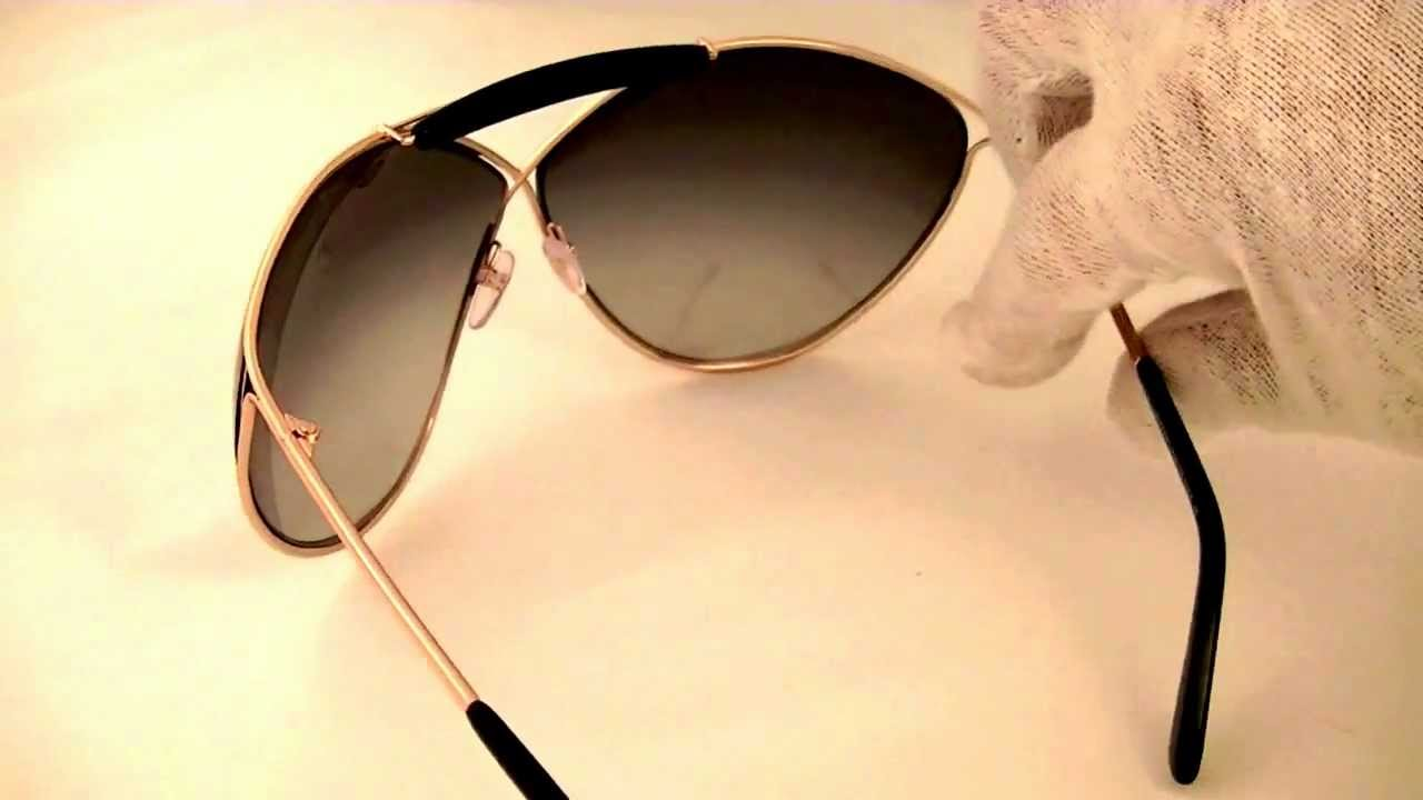 8e3b705eb230 Tom Ford Veruschka Womens Sunglasses TF220 28B - YouTube