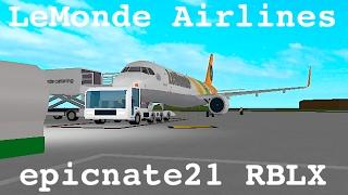 ROBLOX | LeMonde Airlines A320-NEO Flight