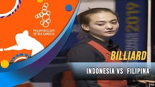 Final Billiard (INA) Fathrah Masum/Nony Andilah vs (PHI) Centeno Chezka/Rubilen - SEA Games 2019