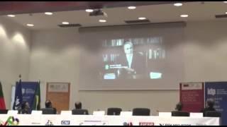 Michel Temer fala no Seminário Luso-brasileiro em Lisboa