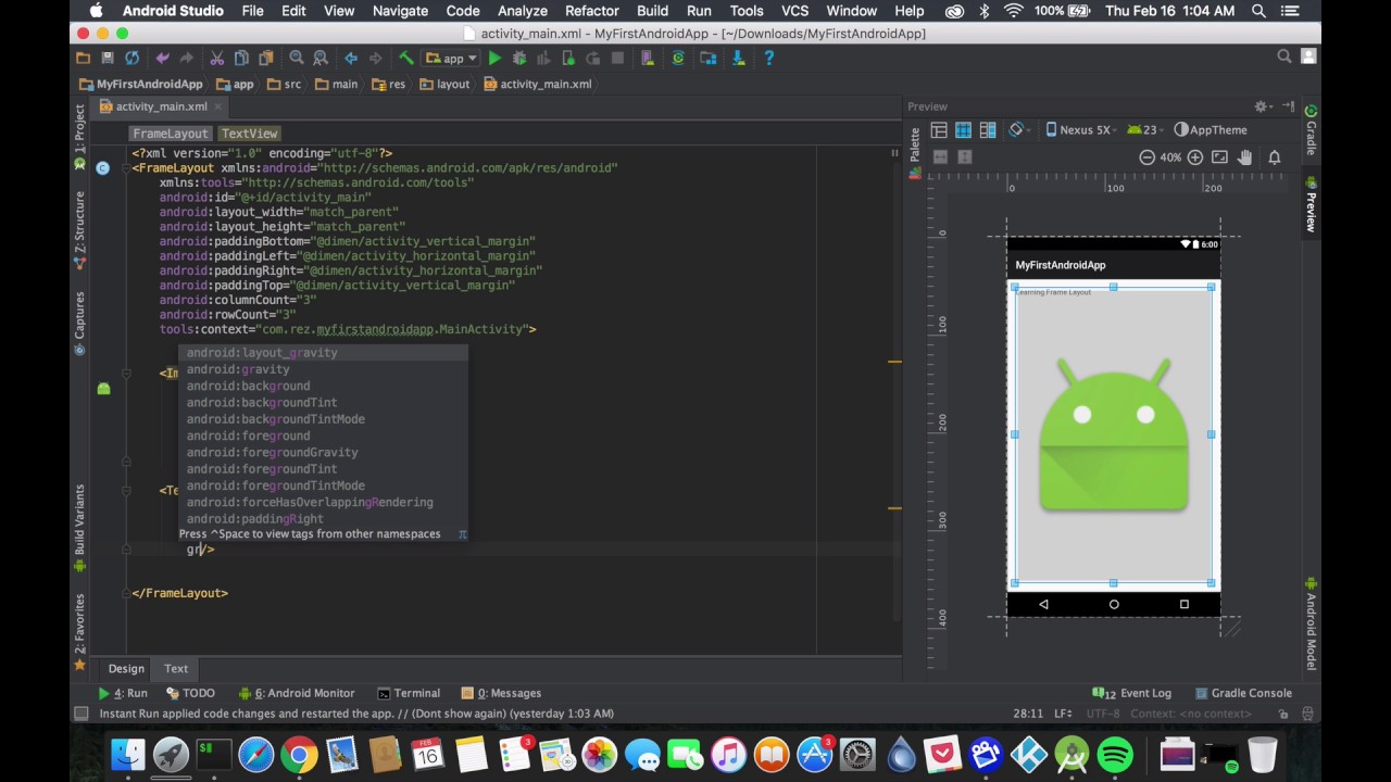 Android Tutorial: Frame Layout - YouTube