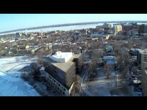 kite aerial video & stills over Madison, WI (1/8/11) 3rd leg