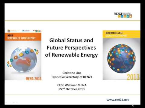 REN21 2013 Renewables Global Status Report: Focus on Middle East and North Africa