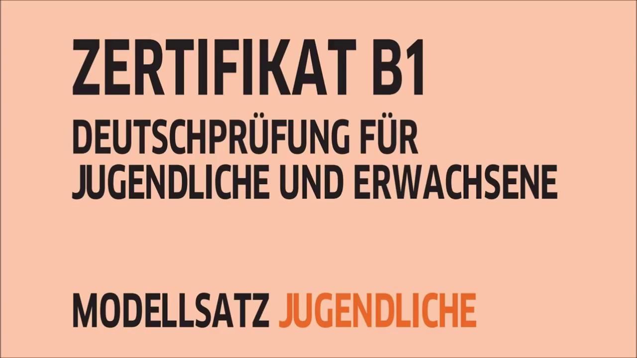 Zertifikat B1 Hören Modellsatz Jugendliche Teil 3 Mit Lösungen