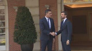 Sánchez se reúne con Casado y por la tarde con Iglesias y Rivera