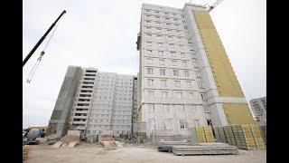 В общежитии ГрГУ имени Янки Купалы активно ведутся внутренние и внешние отделочные работы