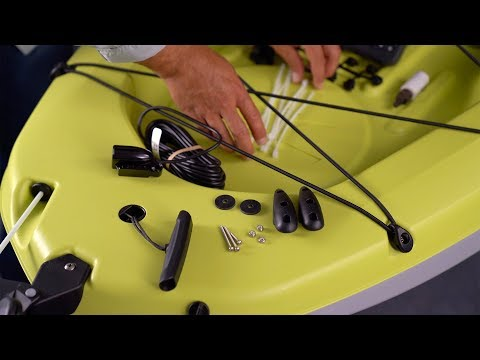 How To Install A Fish Finder With A Rudder Mounted Transducer - Hobie Mirage Passport