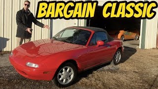 I Bought the Cleanest Time Capsule Quality Mazda MX-5 Miata -- For Only $5,600!