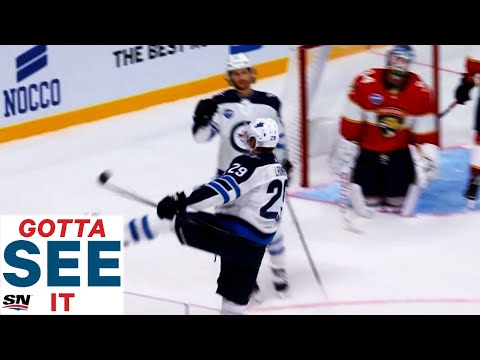 GOTTA SEE IT: Patrik Laine Fires Up Finland With Perfect Shot Against Panthers